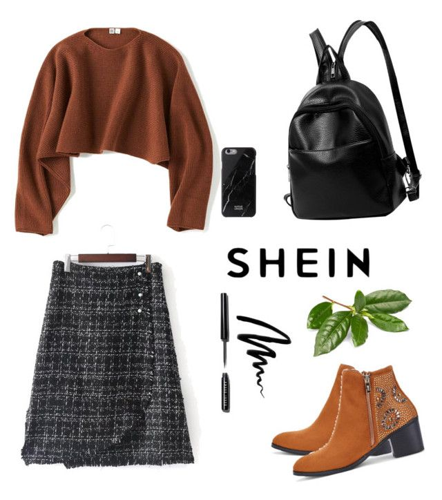 """""""Sheinnn"""" by dorothysmile ❤ liked on Polyvore featuring Uniqlo and Bobbi Brown Cosmetics"""