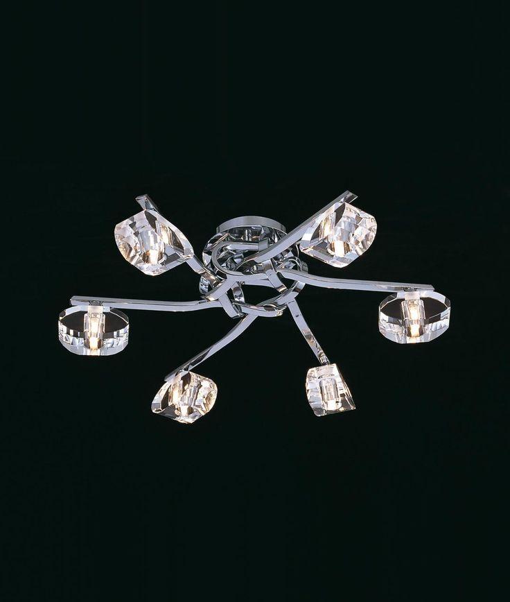 Plafón cromo 6 luces ALFA - La Casa de la Lámpara