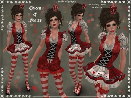 Queen of Hearts Outfit by Caverna Obscura