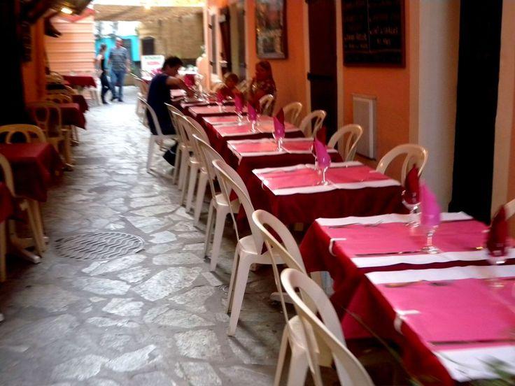 Ajaccio streets with restaurants and bars - Corsica