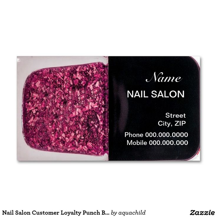 63 best Customized Nail Salon Business cards images on Pinterest ...