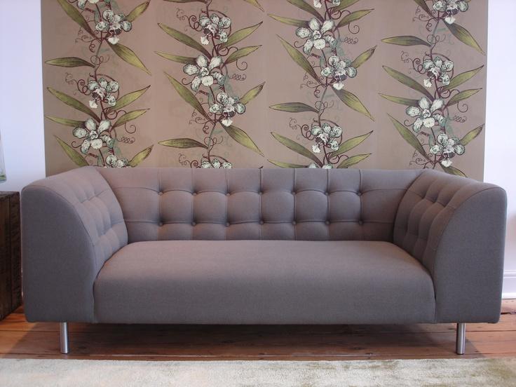 Lansdowne Sofa (http://www.cimmermann.co.uk/product/lansdowne_modular_sofa/) and Timorous Beasties Oriental Orchid (http://www.cimmermann.co.uk/product/oriental_orchid_wallpaper/)