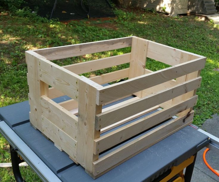 I was passing through a home improvement store the other day and saw a simple wooden crate that was being sold for $11. I decided I could make one from a $3 2x4 and show you how.