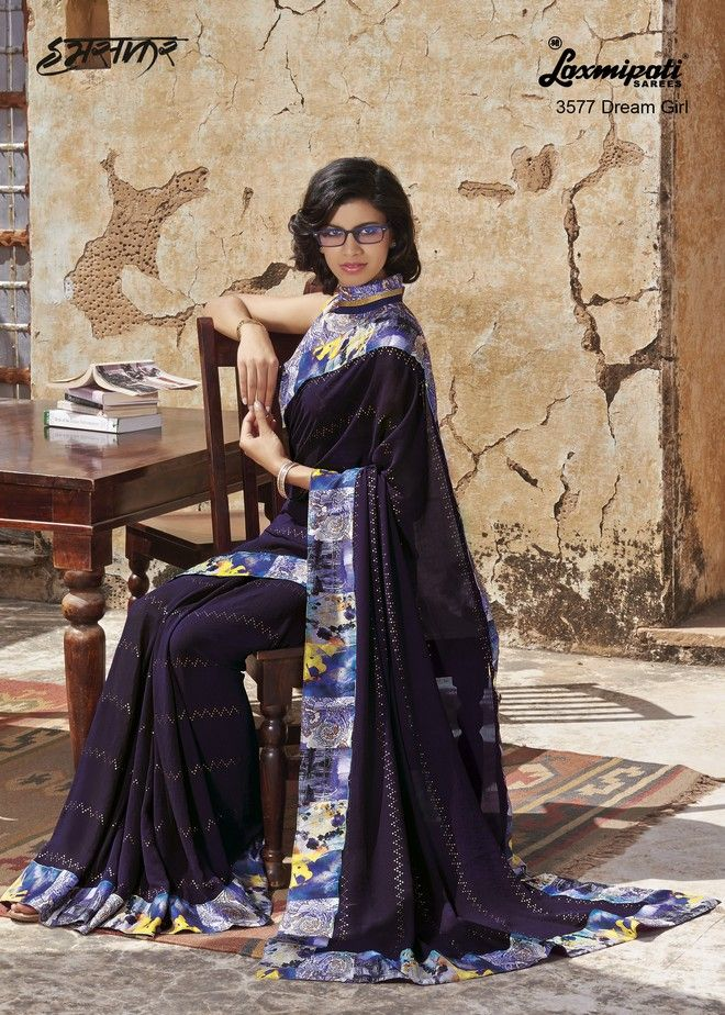 Bindanistudio offers excluisve monsoon wear georgette saree in wholesale rate: Catalog no : 203 Material : Georgette with blouse  Rate: 1699 Availability :  single available no. of pcs : 12  For order call/whats-app : 7575045742 www.bindanistudio.com