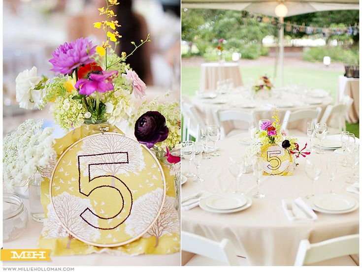 Embroidery Hoop Table Numbers  Millie Holloman