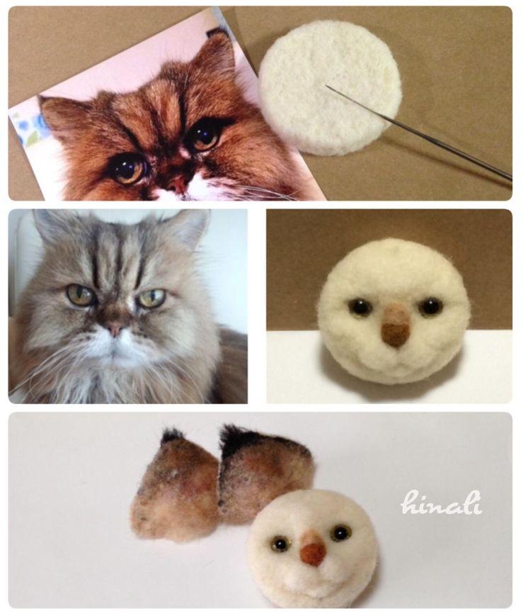 ■ 長毛猫さんのたてがみ の画像|Hinaliの羊毛ねこ制作日記