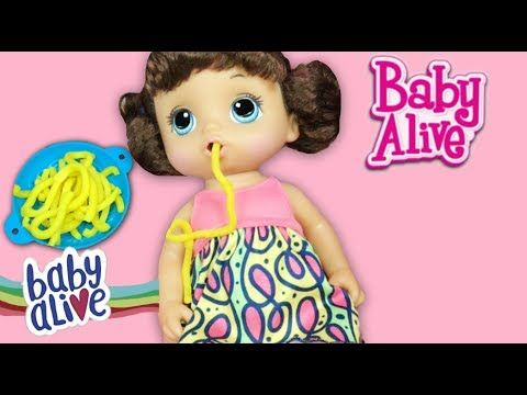 (143) NEW  Super Snackin' Noodles Baby Alive Doll Unboxing and Feeding! - YouTube