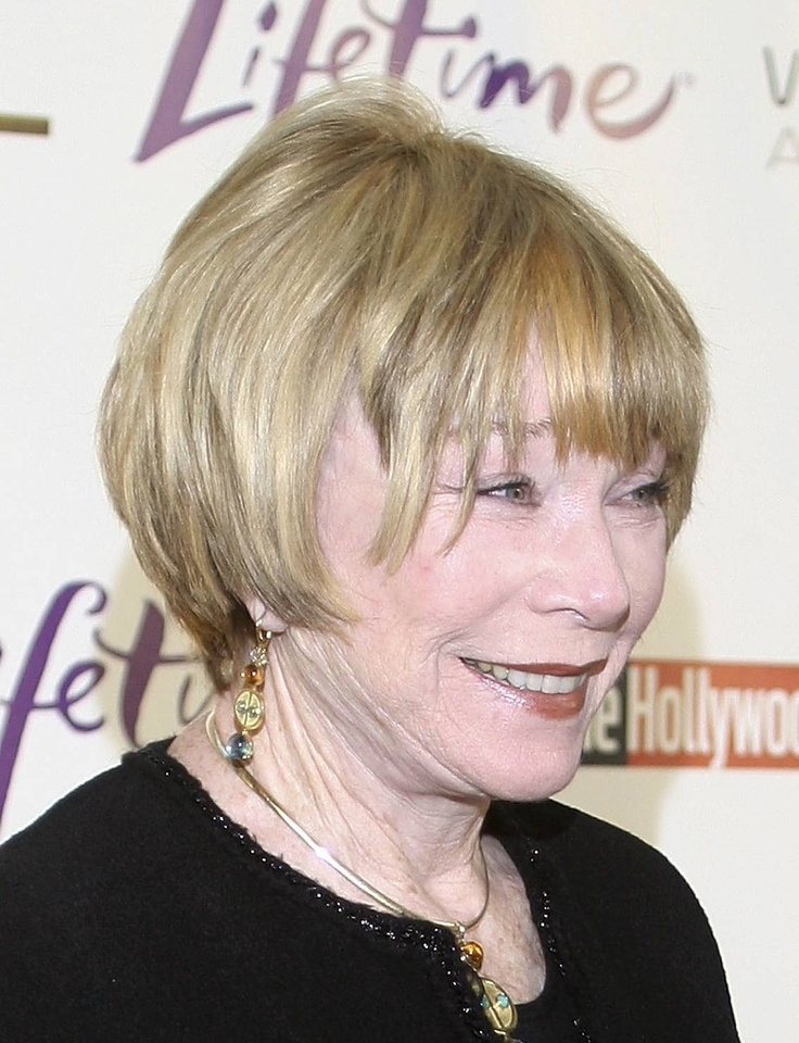 Shirley MacLaine's Hairstyle is Very Flattering on Her Face