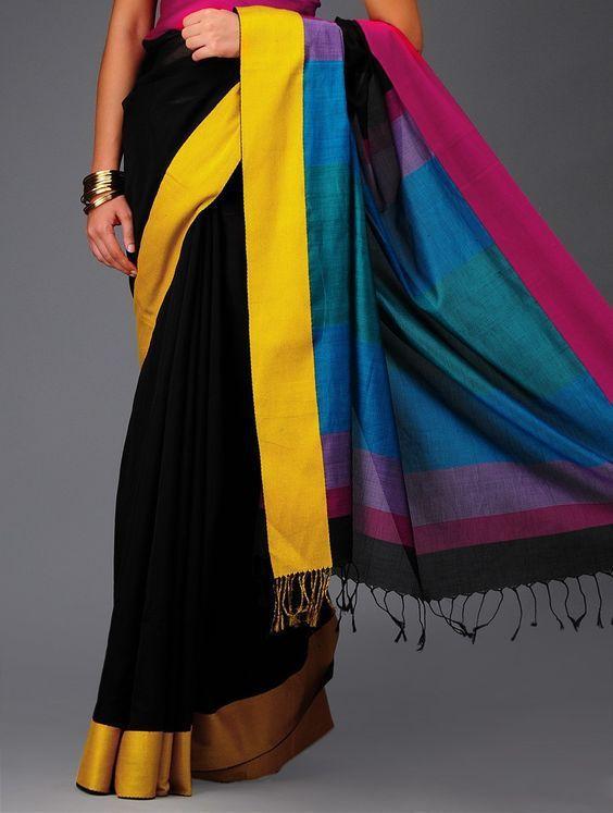 Gorgeousness of colours in the magical Maheshwari drape