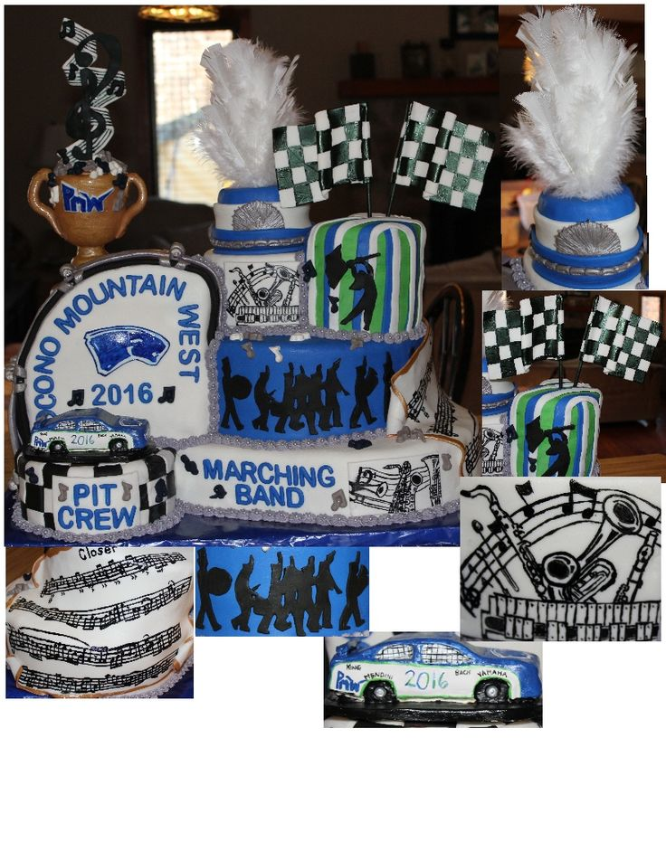 Marching Band for Pocono Mountain West 2016 cake