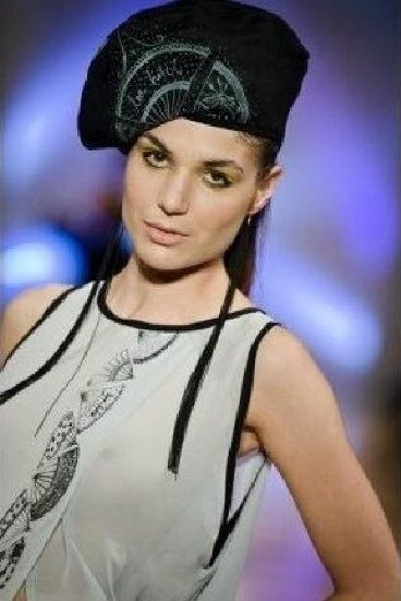 Love Hotel Beret. S/S 2012. French Fan Dress with Beret at Wellington Fashion Week.