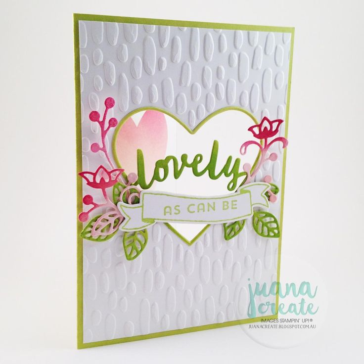 Crazy Crafters Blog Hop with special guest Tanya Boser. Lovely As Can Be - window embossed card. Juana Create.