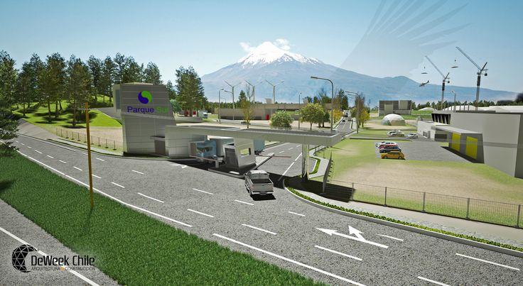 Desarrollo de realidad Virtual, Parque Industrial 145.000 m2 e incorporación de Estructuras Domo Armables Deweek Chile