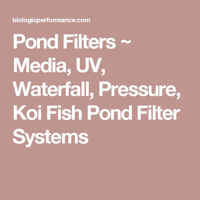 Pond Filters ~ Media, UV, Waterfall, Pressure, Koi Fish Pond Filter Systems