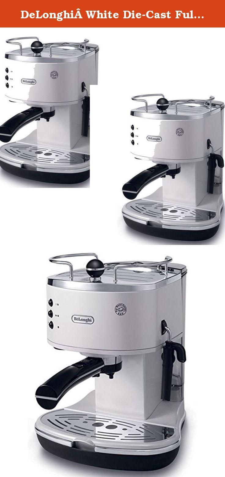 DeLonghiWhite DieCast Fully Automatic Espresso Machine
