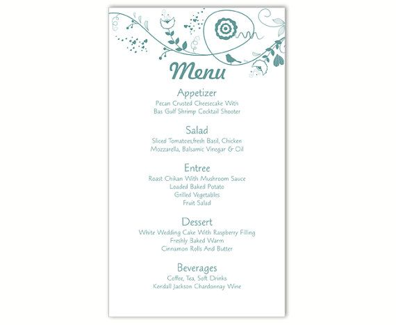25+ Beste Ideeën Over DIY Menu Cards Template Op Pinterest   Menu Templates  Free Download  Menu Templates Free Download Word