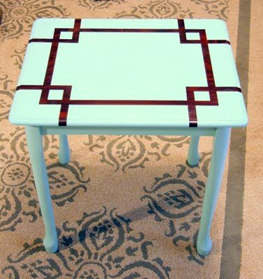 Repaint end table... i'd use dif colors but i like the pattern