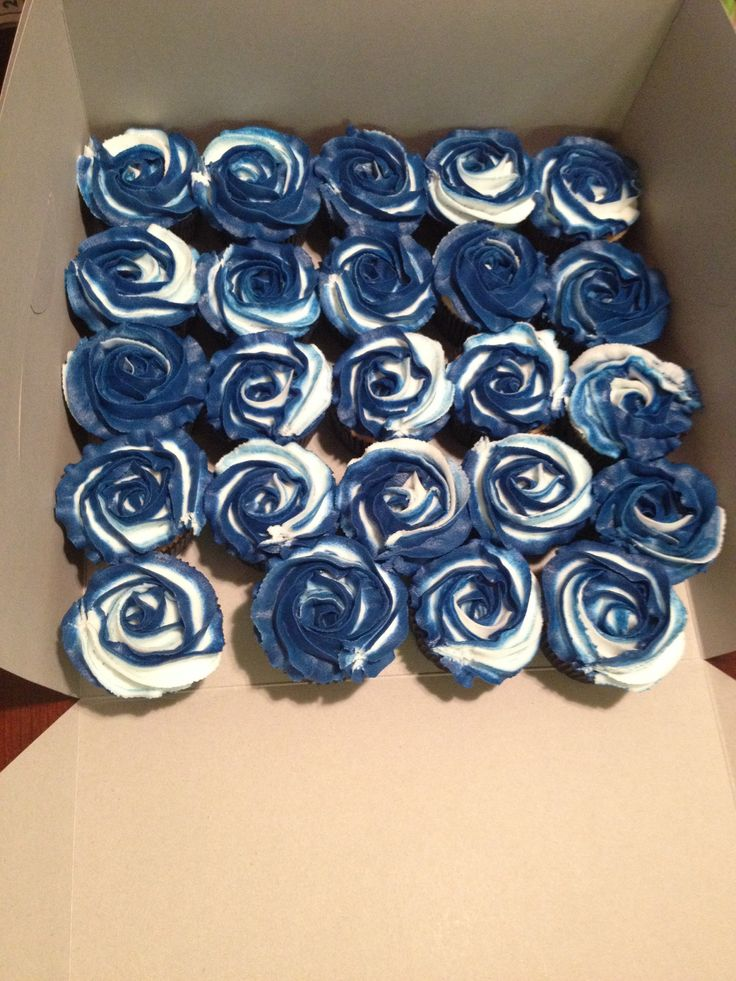 Navy Blue And White Cupcakes Cakes And Cupcakes I Have