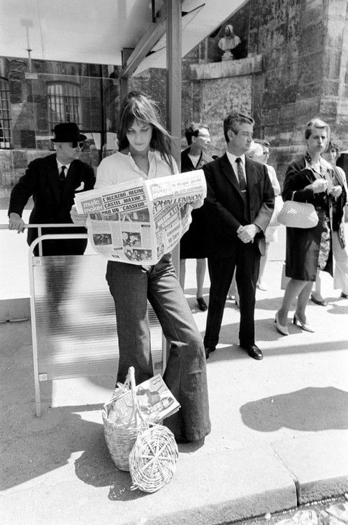 """Jane Birkin...it's because of this basket-bag that the Chief Executive of Hermes created a bag for Jane...""""the Birkin bag"""""""