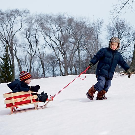 Rosebud Sled in Outdoor Toys | The Land of Nod  | The ultimate outdoor adventure gift