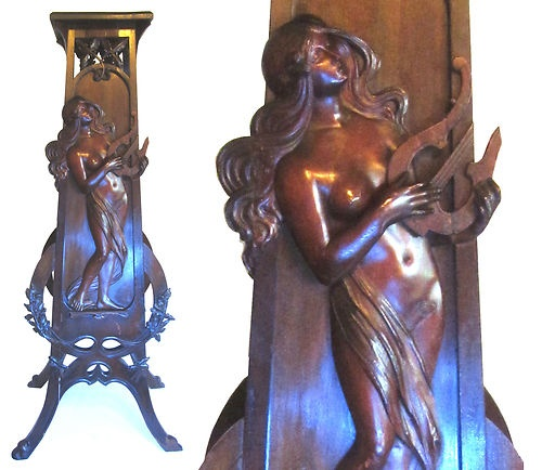 Art Nouveau Musem Worthy Carved Mucha Maiden Stand 1900 Symbolist Harp  Furniture | eBay - 39 Best Furniture Images On Pinterest Antique Furniture, Double
