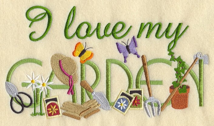 Quot I Love My Garden Quot Needlework Outdoor Living Gardening