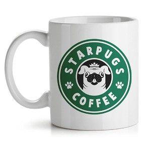 Caneca Cachorro Pug Starbucks