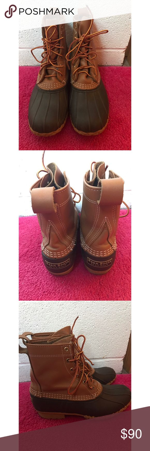 EUC Women's LL Bean Boots Worn only about 5 times because they are too big for me. Excellent user condition. No stains or tears. L.L. Bean Shoes Winter & Rain Boots