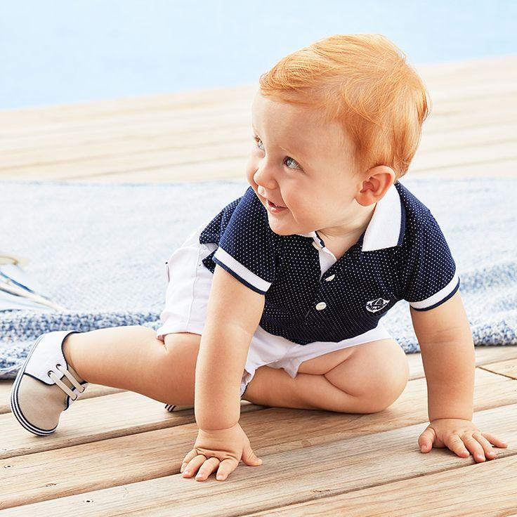 #Conjunto marinero de bebé de marca #Mayoral