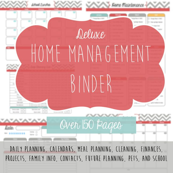 Deluxe home management binder.  Over 150 pages!