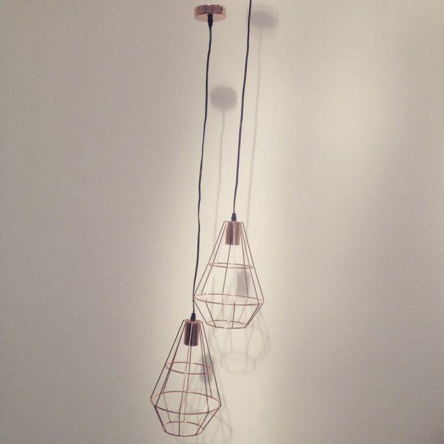 Suspension filaire cuivre - 24,90 euros MONOPRIX