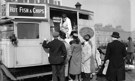fish n chips in the old days