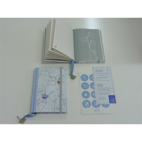 Blue Wren recycled A6 journal $14
