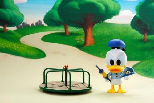 """Disney Play Buddies 3.5"""" Playground Series - Donald [33142] by Dragon. $25.99. What's more,  the 3.5"""" figures are changeable to a standing or sitting position!. In this Playground series, Donald wears an old-school uniform at the playground with merry-go-round and kite.. Play Buddies Collection comprises different Disney characters in a setting that brings customers back to their nostalgic Hong Kong childhood.  This Playground series features each character in the old-..."""