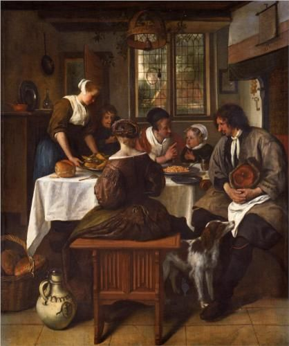 Jan Havickszoon Steen (Leiden 1626 – Leiden 1679)  Prayer before Meal