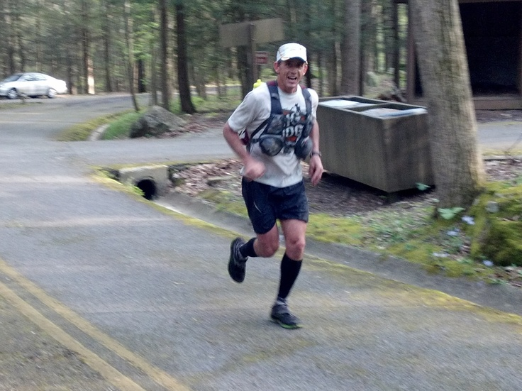 John coming in from Lap 1 at the Barkley Marathons: Barkley Marathons, Big Dogs, John Coming