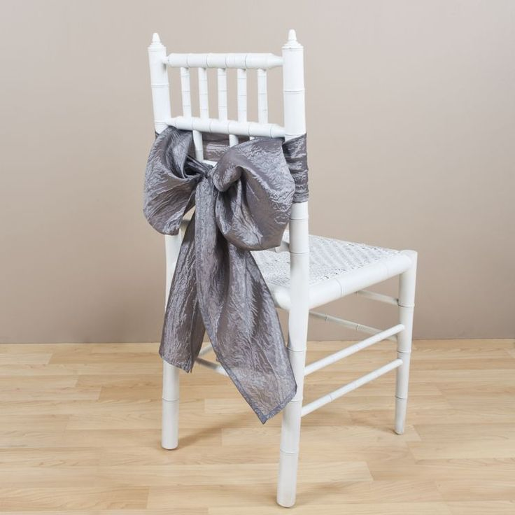 Saro Crushed Pewter Decorative Chair Tie