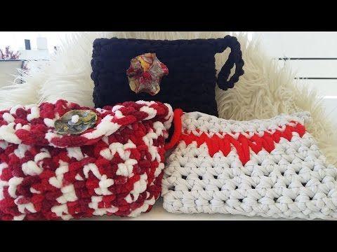Tutorial Pequeño Bolsos Trapillo a Crochet Para Dar en Tus Comuniones o Bodas - YouTube