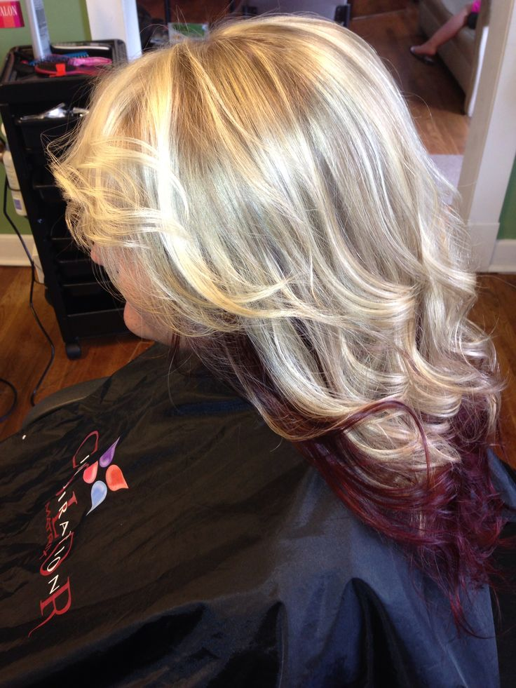 Blonde Hilights With Bold Red Undertone Hair Ideas