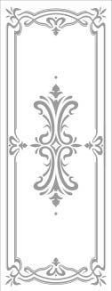 Rectangle Door Stencil Pattern - Art Deco san antonio etched glass, austin etched glass