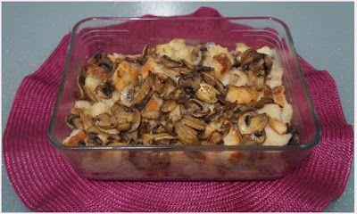 Pasticcio vegan di pane raffermo e funghi - Ricette di non solo pasticci