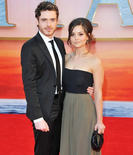 Richard Madden and Jenna-Louise Coleman attend the March 27 Titanic 3D premiere at the Royal Albert Hall in London.