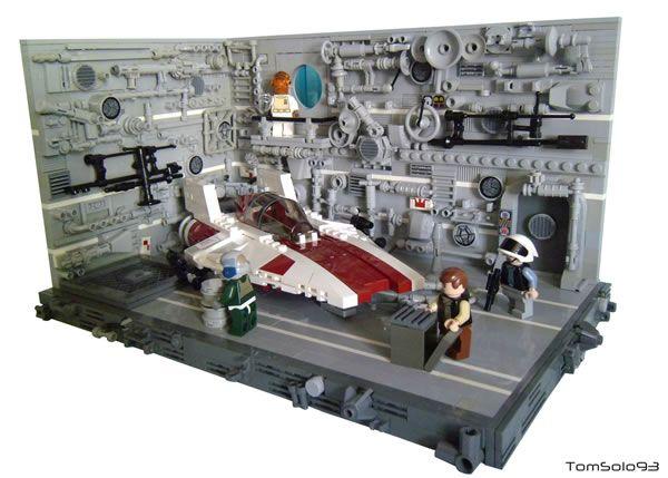A-Wing Hangar par TomSolo93 - http://www.hothbricks.com/
