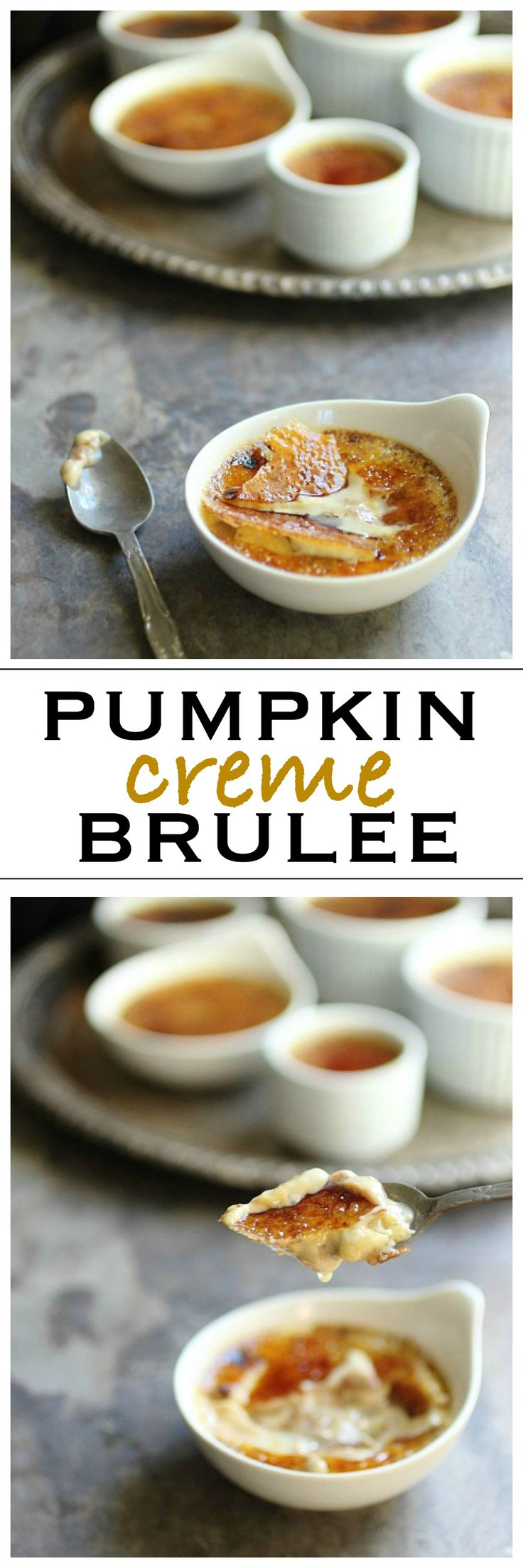 Creamy Pumpkin Creme Brulee with A Crunchy Sugar Top | Foodness Gracious