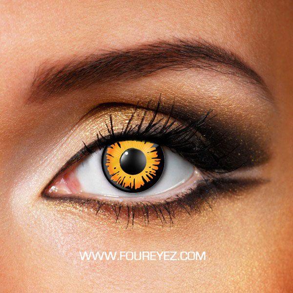 Orange Werewolf Costume Contact Lenses (Pair) -- this site has a lot of costume lenses