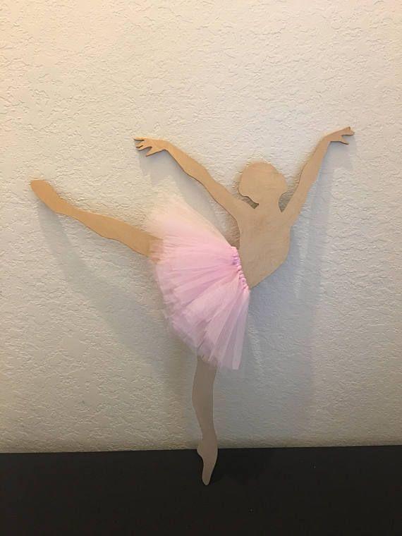 Ballerina Wooden Silhouette, Ballerina party decorations, ballerina party supplies, dance party decorations, dane party theme