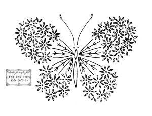 Butterfly embroidery patterns* paper-and-felt-crafts