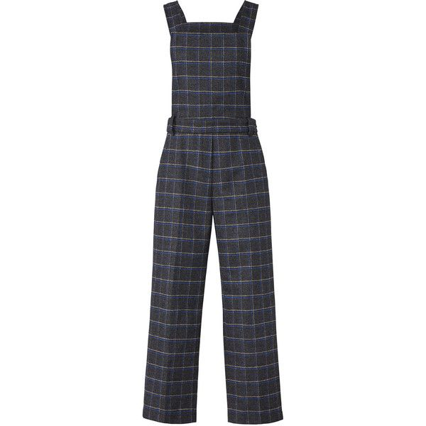 EVIDNT Plaid Wool Overalls ($30) ❤ liked on Polyvore featuring jumpsuits, overalls jumpsuit, wool jumpsuit and bib overalls