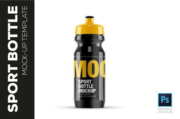 Download Sports Bottle Mockup Template By Mockupteam On Creativemarket Bottle Mockup Sport Bottle Mockup Template
