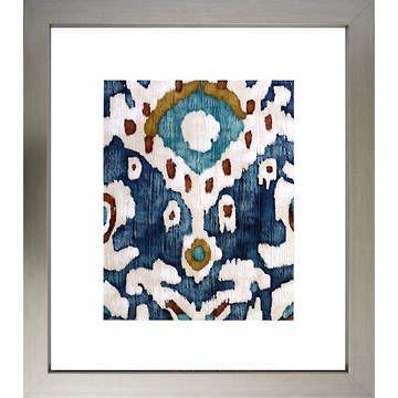 Ocean Ikat Art l Original and Framed Art l Acrylic Paintings l Prints